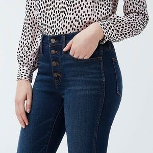 J. Crew High Rise Vintage Straight Button Fly Jean